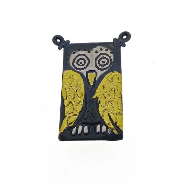 Owl brooch handmade bird pin animal jewellery keum boo